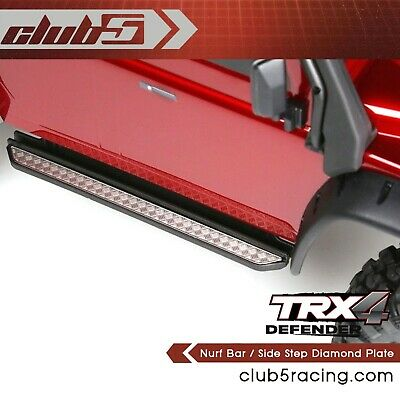Nurf Bar / Side Step Chequer Plate (Stainless Steel) for Traxxas TRX-4