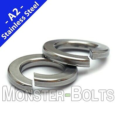 "SAE Stainless Steel Split Lock Washers - #2 #4 #6 #8 #10 1/4"" 5/16"" US Inch 18-8"