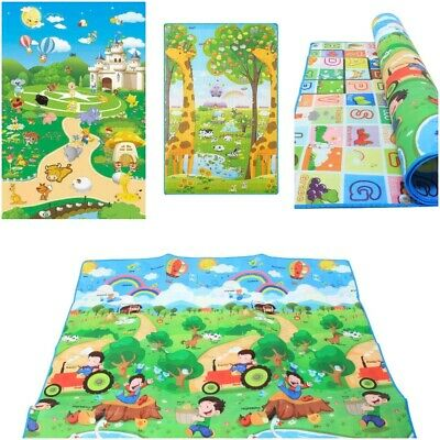 Educational Baby Play Mat 2 Sided Soft Foam Carpet Kids 200X180cm *HIGH QUALITY*