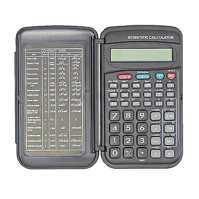 Scientific Calculator Pocket Sized w/ Cover 10 Digit Display for School/Students