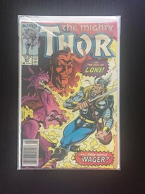 """Vintage The Mighty Thor Vs. Loki """"the Wager"""" Comic 1988"""