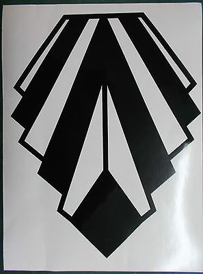 Extra Large Art Deco Style Gloss Black Wall Decoration Vinyl Sticker (25-09-Lg)