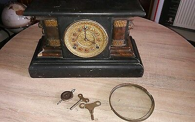 Antique Wm L Gilbert (THOR) 8 Day Time and Strike Clock 1906