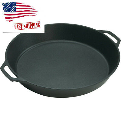 Lodge 17-inch Cast Iron Skillet with Integral Loop Handles Cookware High Quality