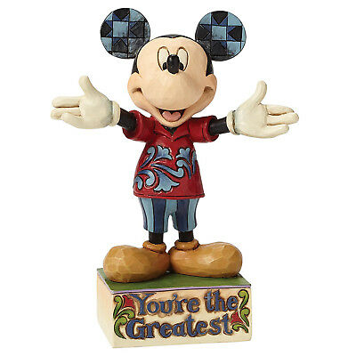 NEW OFFICIAL Disney Traditions Mickey Mouse You're The Greatest Figurine 4049637