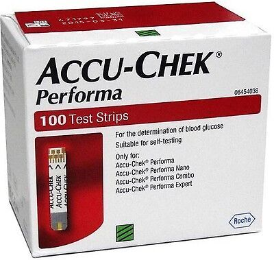 Accu-Chek Performa 100 Test Strips,Glucometer Blood glucose Exp-31,January,2019