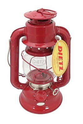 Dietz #50 Comet Oil Burning Lantern (Red) Metal Small Lamp Portable Hanging Camp