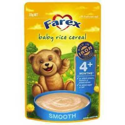 Farex Baby +4 Months Pear and Banana Rice Ceral 125g
