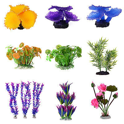 Fish Tank Plastic Decoration Aquarium Plants Water Grass Ornament Coral Grass