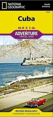 Cuba Adventure Travel Map National Geographic Waterproof