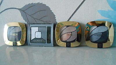 LOREAL & BOURJOIS PARIS Quad Eye Shadow Mixed!All Colors!Joblot! IDEAL CAR BOOT!