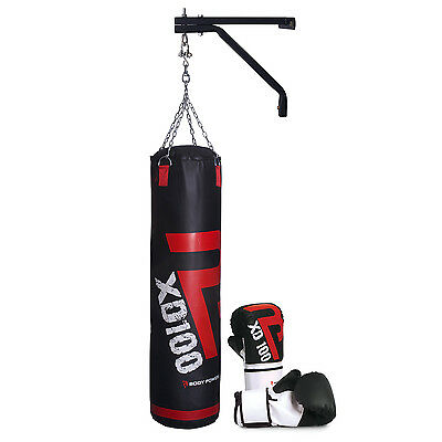 BodyPower™ Boxing Starter Kit (w/ Small Boxing Gloves PU Punch Bag, Wall Bracket