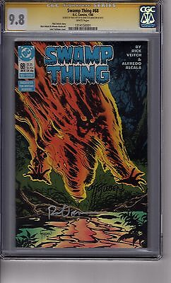 Swamp Thing #68 CGC 9.8 SS *2x Signed* *Veitch + Totleben Signature Series*