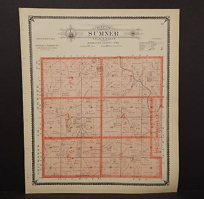Iowa Winneshiek County Map Sumner Township 1905  K14#84