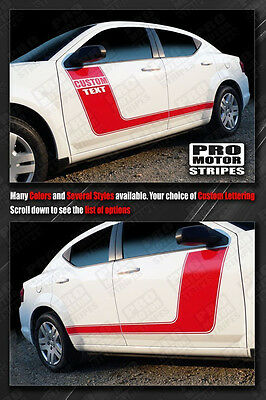 Dodge Avenger Side Hockey Stripes Decals 2011 2012 2013 2014 Pro Motor