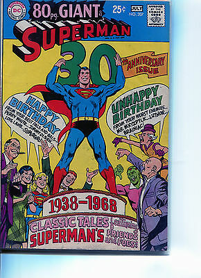 DC SUPERMAN Silver age COMICS LOT OF 2   GIANT ISSUES #207, #212    80 PAGE each