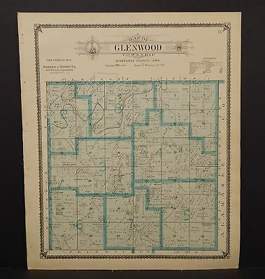 Iowa Winneshiek County Map Glenwood Township 1905  K14#97