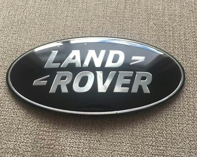LAND ROVER DISCOVERY RANGE ROVER BLACK & SILVER GRILLE OR REAR DOOR BADGE 86mm