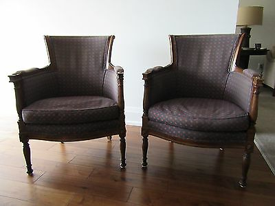 Pair of French Bergere chairs