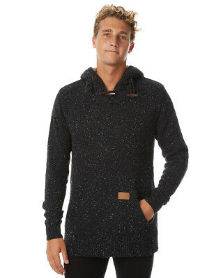 New Rip Curl Men's Neps Mens Hood Cotton Leather Black