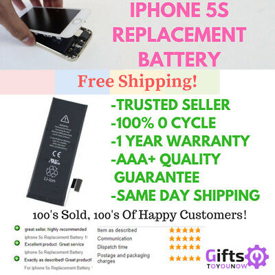 iphone 5s Replacement Battery 1560mAh Genuine 0 Cycle battery  AAA+++