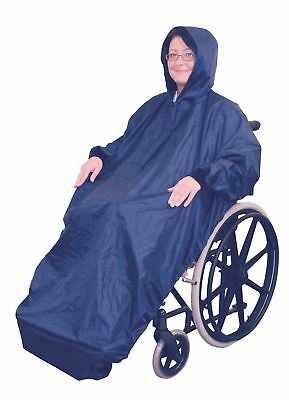 Aidapt Wheelchair Mac With Sleeves Universal Blue Polyester with PVC coating