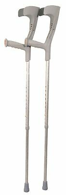 Deluxe Patterned Forearm Crutches (pair) (Grey Design Grey Multi-pattern Body)