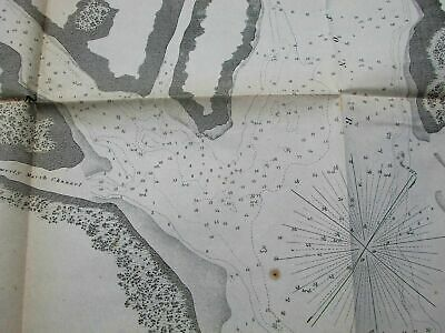 Georgia coast Romerly Marshes Wassaw Refuge Savannah 1855 antique nautical map