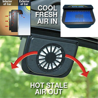 Solar Powered Car Window Windshield Auto Air Vent Cooling System Cooler