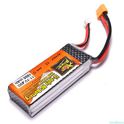 part Battery LiPO 11.1V 1500mAh 40C For 1/18 RC Buggy Car Truck power MP