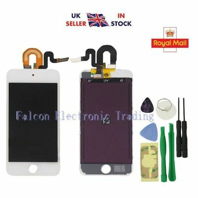 White For iPod Touch 5 LCD Display Touch Glass Digitizer Screen Replacement
