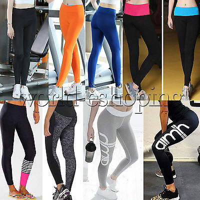 Womens Yoga Workout Gym Leggings Stretch Fitness Sports Trousers Athletic Pants