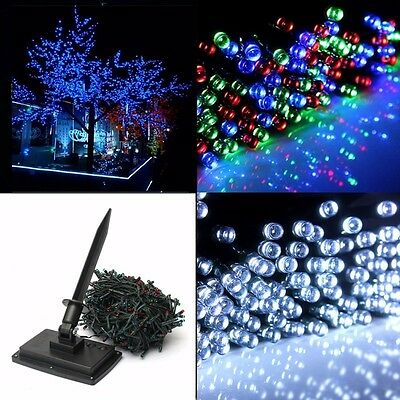 AU 50M 500 LED Solar Fairy String Lights Indoor Outdoor Xmas Party Waterproof