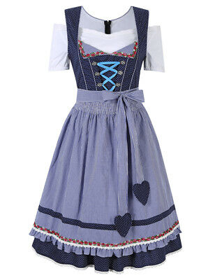 Vintage German Traditional Dirndl Dress Oktoberfest Beer Costume Bavarian Outfit