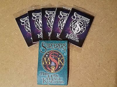 5 New Unopened Packs Disney Sorcerers of the Magic Kingdom 25 Spell Cards & Map