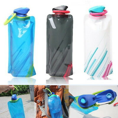 Popular 700mL Outdoor Foldable Reusable Sport Water Bottle Bag BPA-Free Bicycle