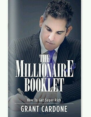 Grant Cardone THE MILLIONAIRE BOOKLET *FREE SHIPPING*
