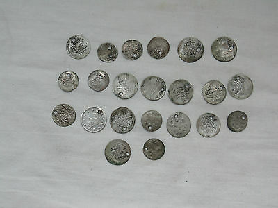 Lot 22 Antique Ottoman Empire Turkish Islamic Silver Akce Akche Drilled Coins *5