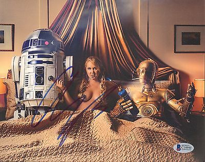 AMY SCHUMER Signed Autographed Star Wars 8x10 Photo BECKETT BAS #C14940