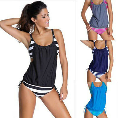 Ladies Push Up Bikini Bathers Padded Bikini One Piece Swimwear Swimsuit Tankini