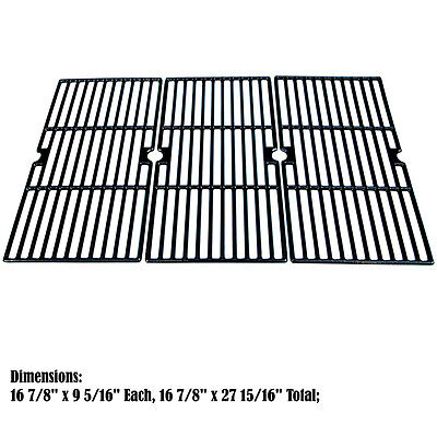 Replacement Porcelain Cast Iron Cooking Grid for Charbroil Gas Grill, 3 pack