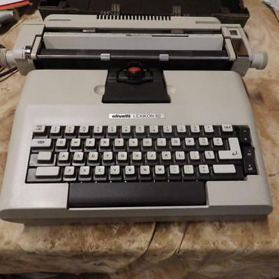 vintage Olivetti Lexikon 82 golf ball electric typewriter in hard carry case