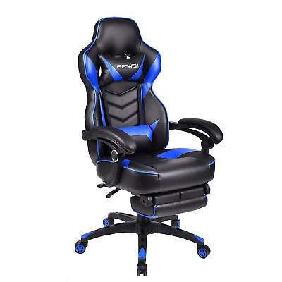Racing Style PU High Back Office Gaming Chair Computer Desk Seat Ergonomic Red