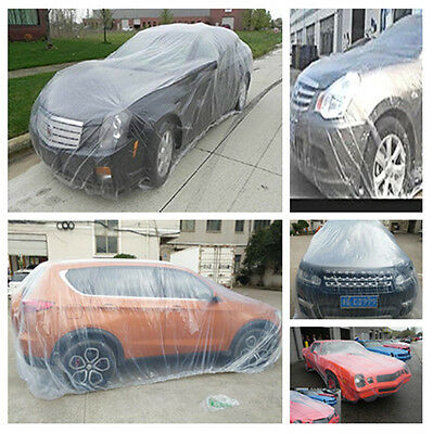 Clear Transparent Waterproof Plastic Temporary Disposable Car Suv Jeep Cover