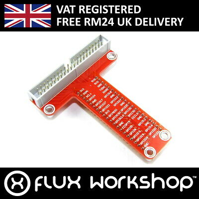 Raspberry Pi GPIO Breakout Board Adaptor 40 A+ B+ MB102 Flux Workshop