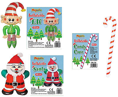Christmas Inflatable Elf Santa Candy Cane Decorations Party Fancy Dress Fillers