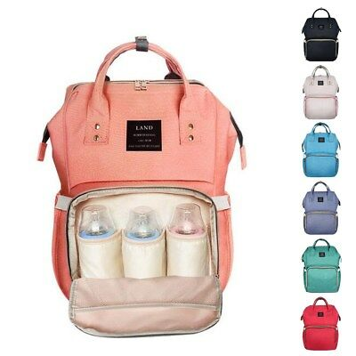 UK Large Baby Diaper Nappy Changing Mummy Rucksack Stroller Hanging Bag Backpack