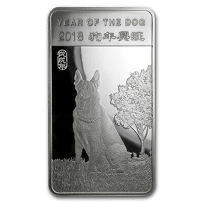 10 oz Silver Bar - APMEX (2018 Year of the Dog) - SKU#152699