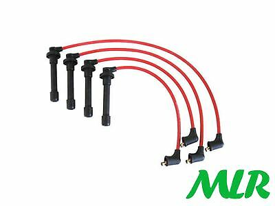 8Mm Red Silicone Ignition Ht Leads Wires Hrv Accord Civic Coupe 16V Vtec Mlr.cd