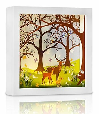 Marmelada Lights Forest Deer Family LED 3D Wall Hanging and Table Top Inner In a
